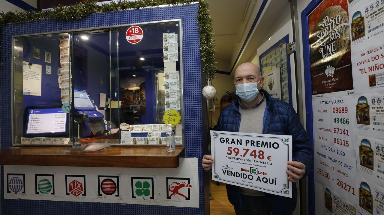 La administración de O Valadouro vendió recientemente un premio de la bonoloto