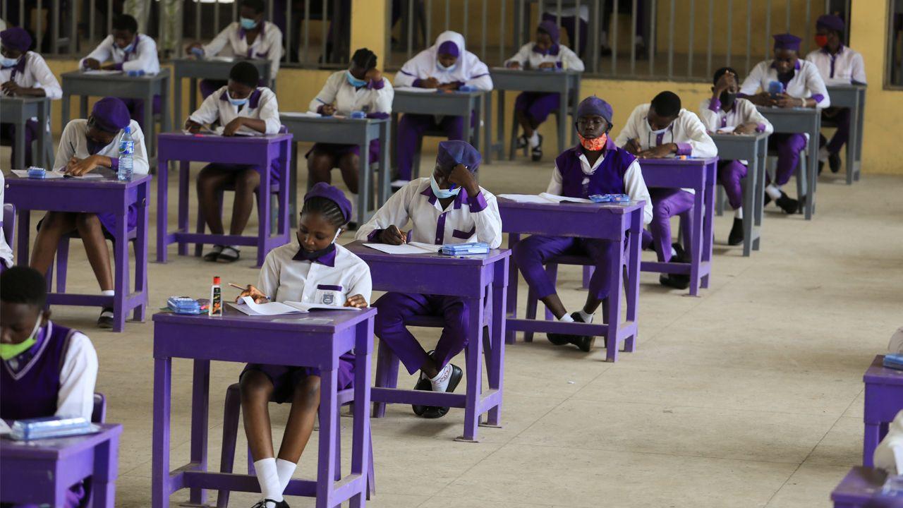Clases en una escuada de Secundaria de Abuja, en Nigeria