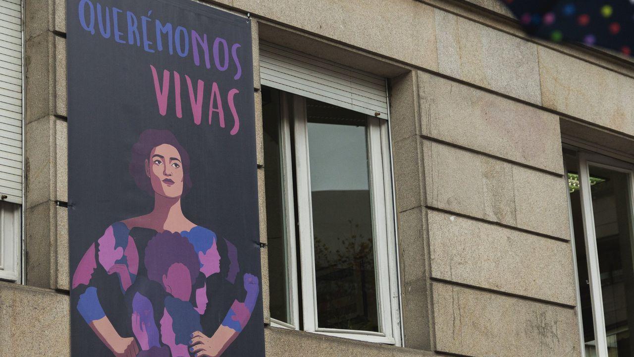 Acto contra la violencia de género en Ribeira en una imagen de archivo