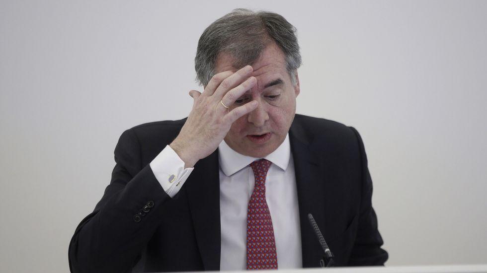 Ángel Antonio del Valle, presidente de Duro Felguera.Ángel Antonio del Valle, presidente de Duro Felguera