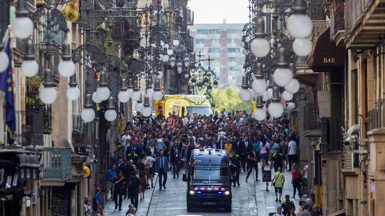Homenaje a las victimas del 17A en el aniversario de los atentados