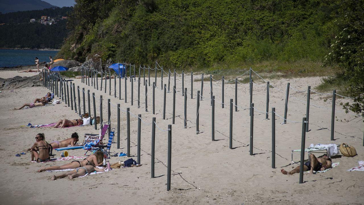 Maroto explica las medidas desplegadas en Asturias.Las piscinas se crearán en las inmediaciones del pinar de la playa de A Concha