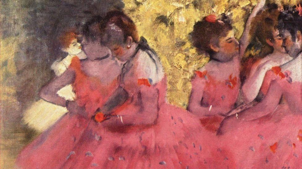 El príncipe Enrique y Meghan presencian los desfiles en honora Isabel II.«Bailarinas de rosa, intermedio en los bastidores» (1884), de Edgar Degas. Gliptoteca Ny Carlsberg (Copenhague)