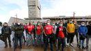 Bomberos y policías de Vigo,en protesta por sus conflictos laborales