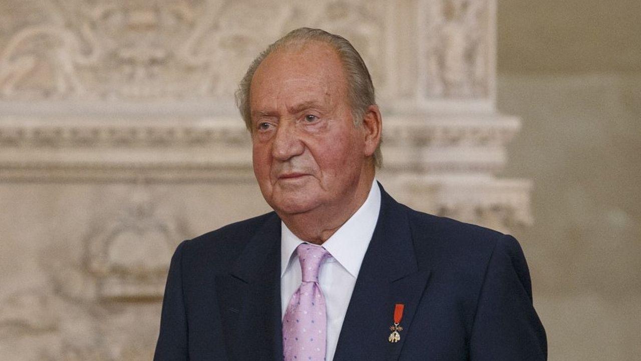 El rey Juan Carlos, durante su abdicación en el 2014