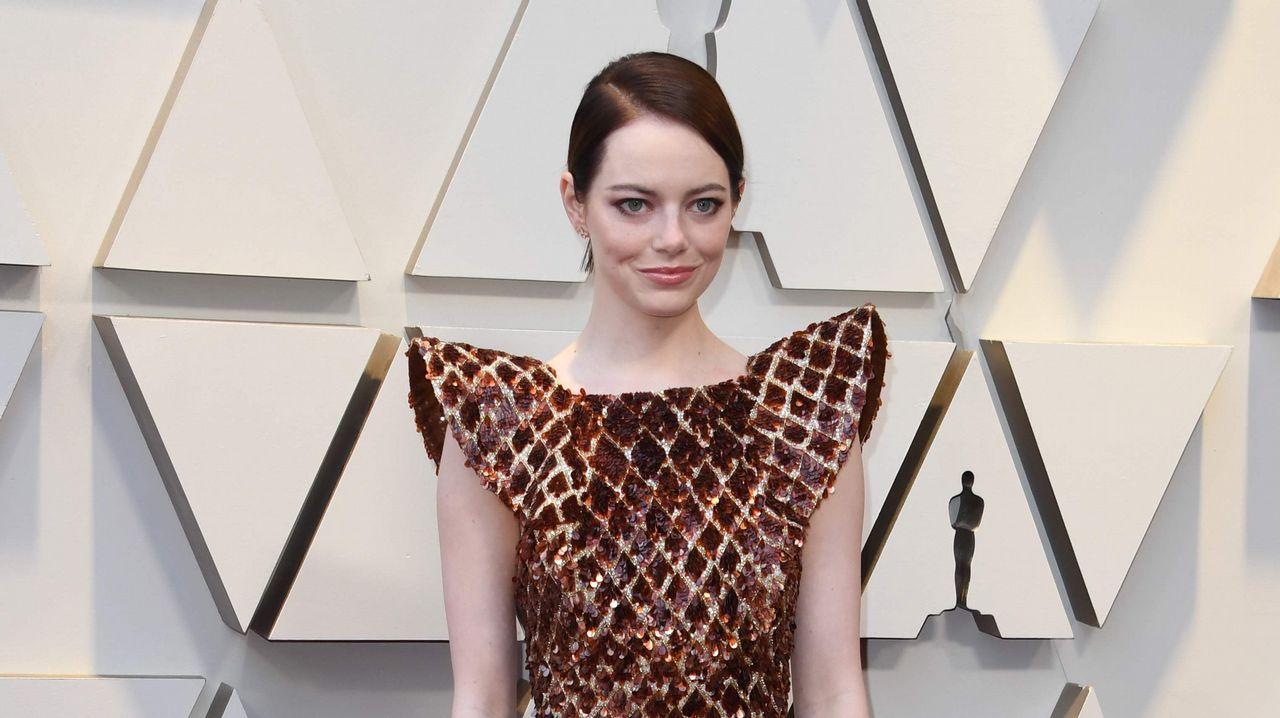 Emma Stone, actriz nominada por  La favorita