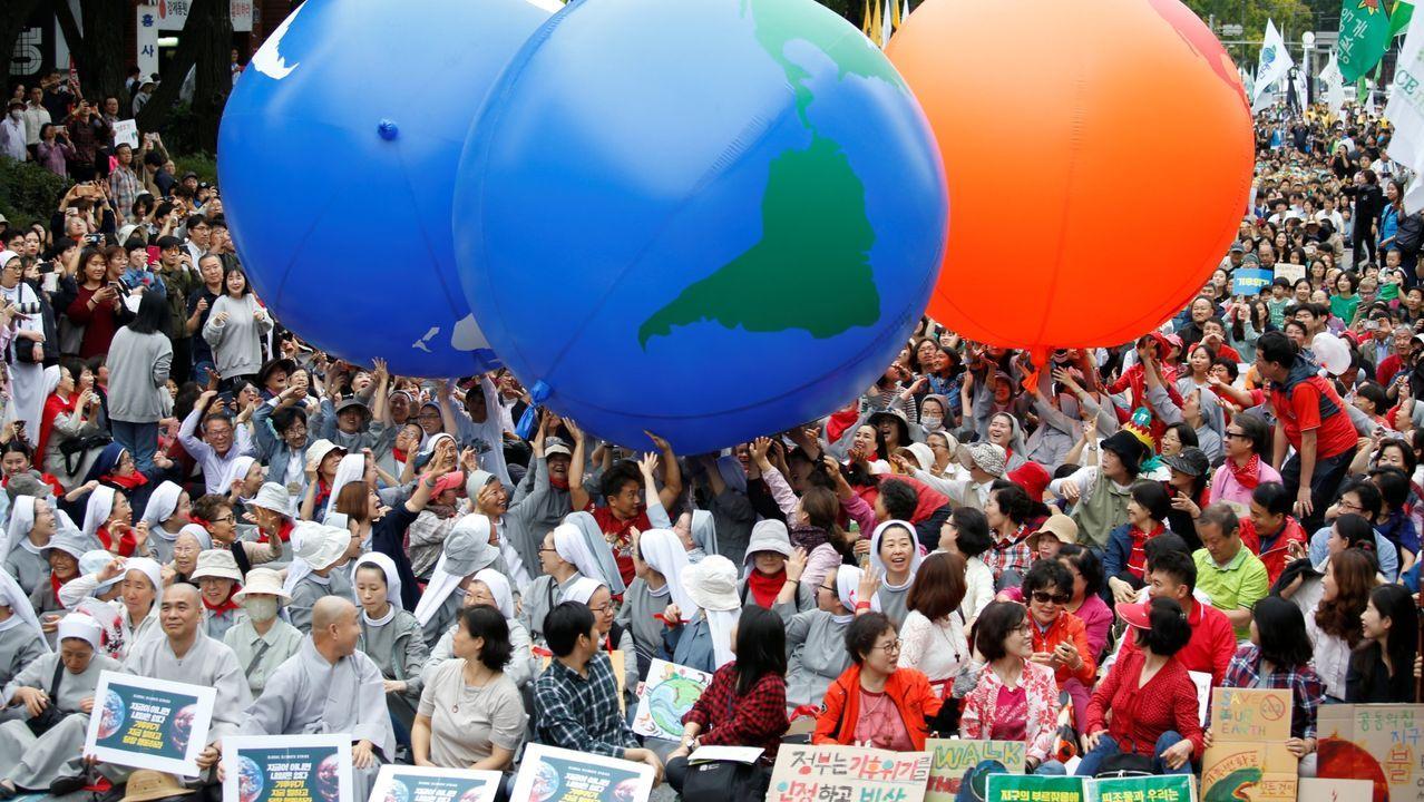 Manifestación en Seúl a favor da loita contra o cambio climático o pasado 21 de setembro