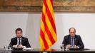 Aragonés (ERC) y Torra (Junts), durante una reunión de gobierno de la Generalitat