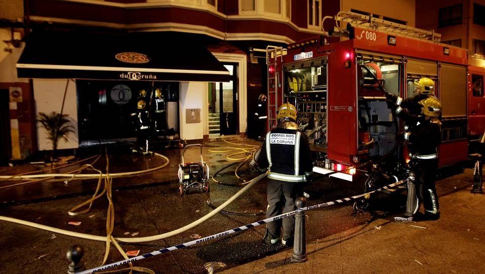 Incendio en un pub del Orzán en A Coruña