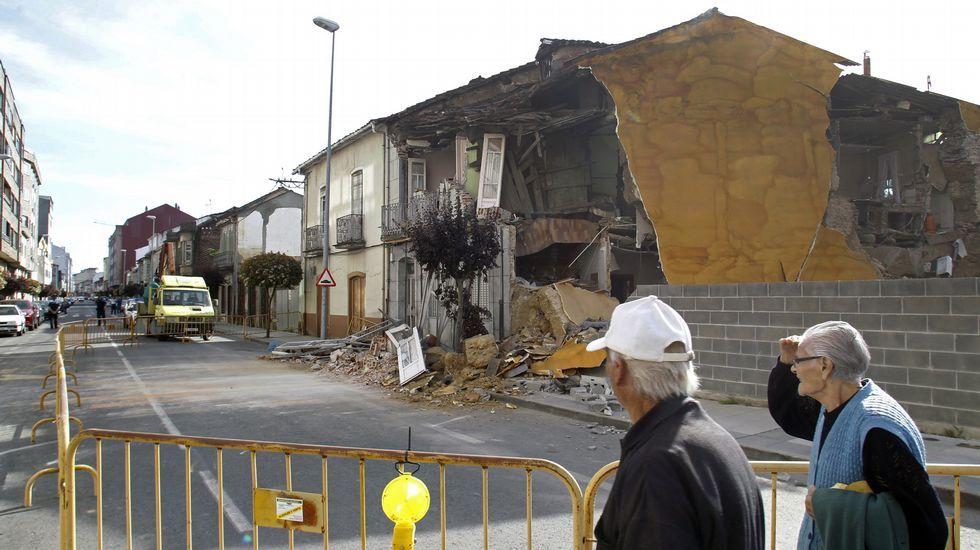 Desplome de una vivienda, a comienzos de este mes, en la calle Leopoldo Calvo Sotelo