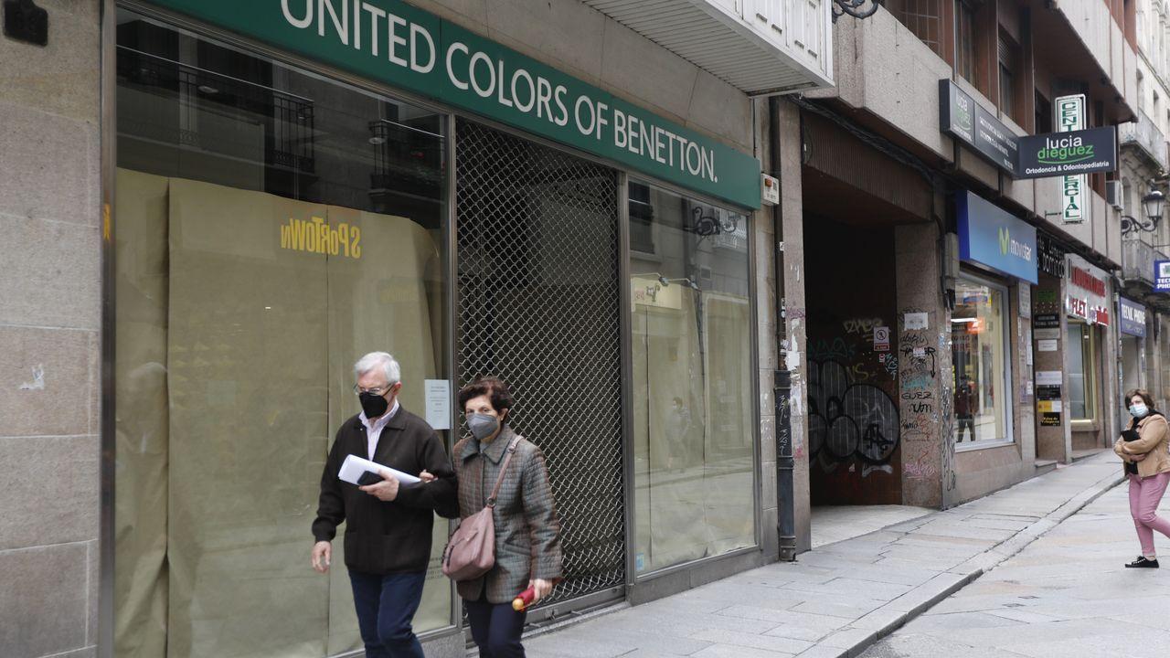 La franquicia de Benetton cerró hace algo más de un mes su tienda en la calle Santo Domingo