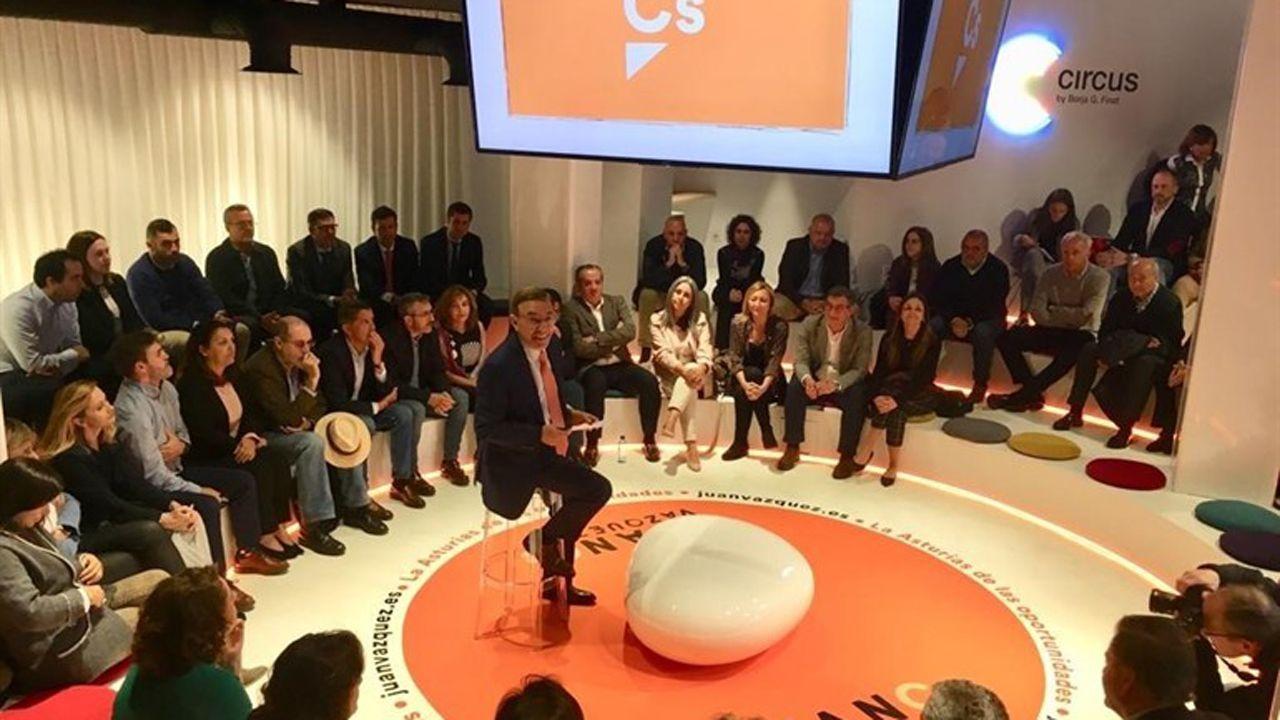 La élite de la justicia asturiana.Juan Vázquez presenta la campaña de Ciudadanos para una Asturias «de las oportunidades»