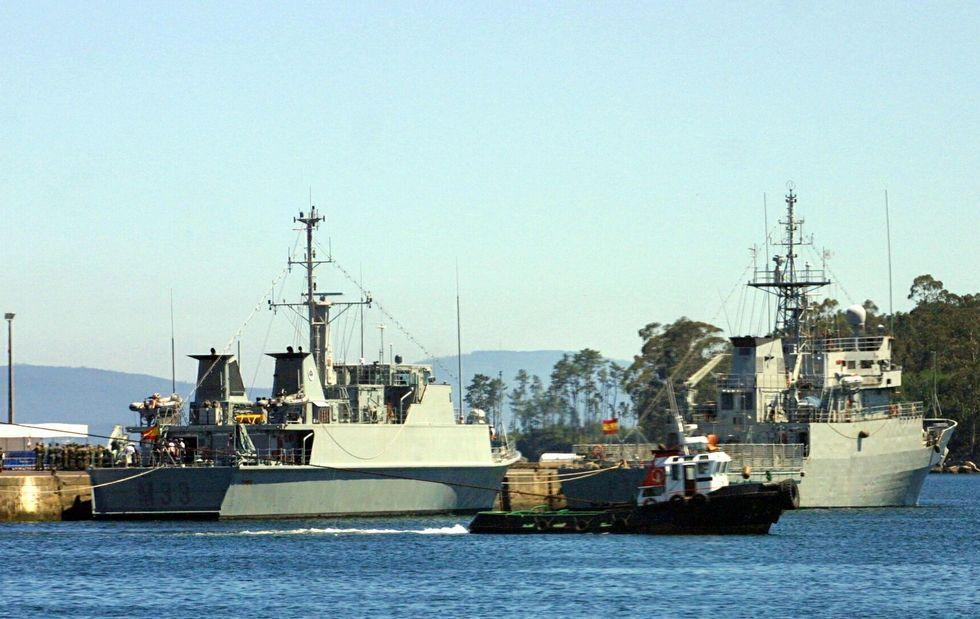 Navantia fabricó seis cazaminas en los últimos años para la Armada española.