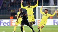 N'Diaye en un partido de Europa League con el Villarreal