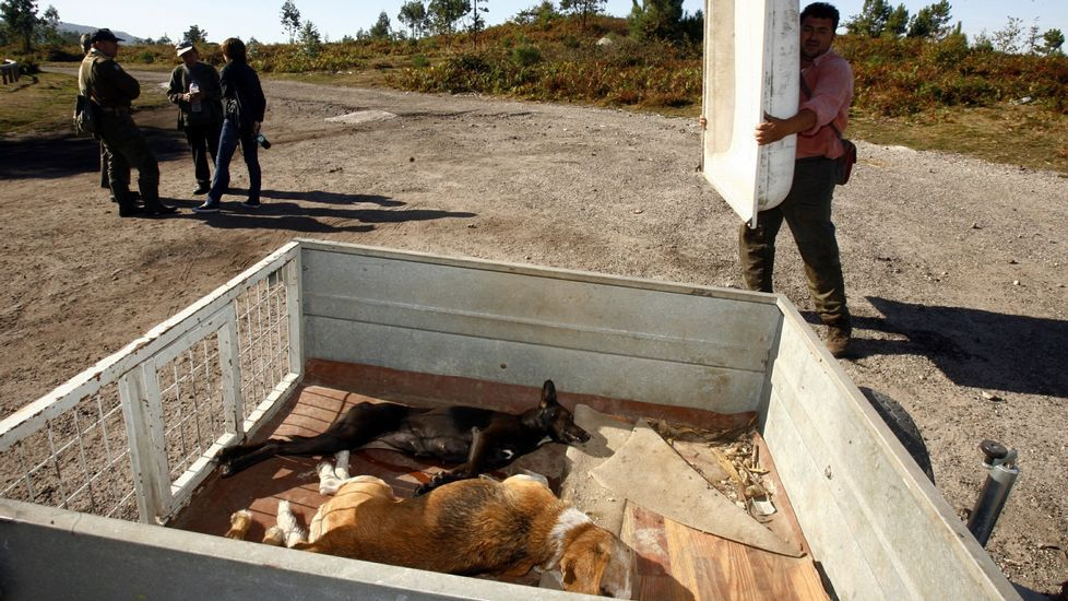 Concentración por los dos brigadistas muertos en Fornelos
