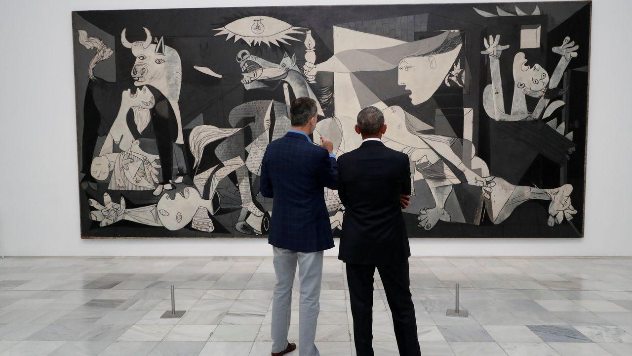 La cumbre de Trump y Putin en Helsinki, en imágenes.El rey descubrió a Obama los secretos del «Guernica»