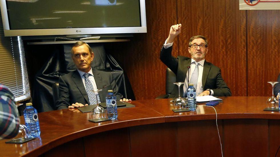 El último adiós a Rubalcaba, en imágenes.Alejandro Legarda (izquierda) y Fernando Herce en una imagen de archivo.