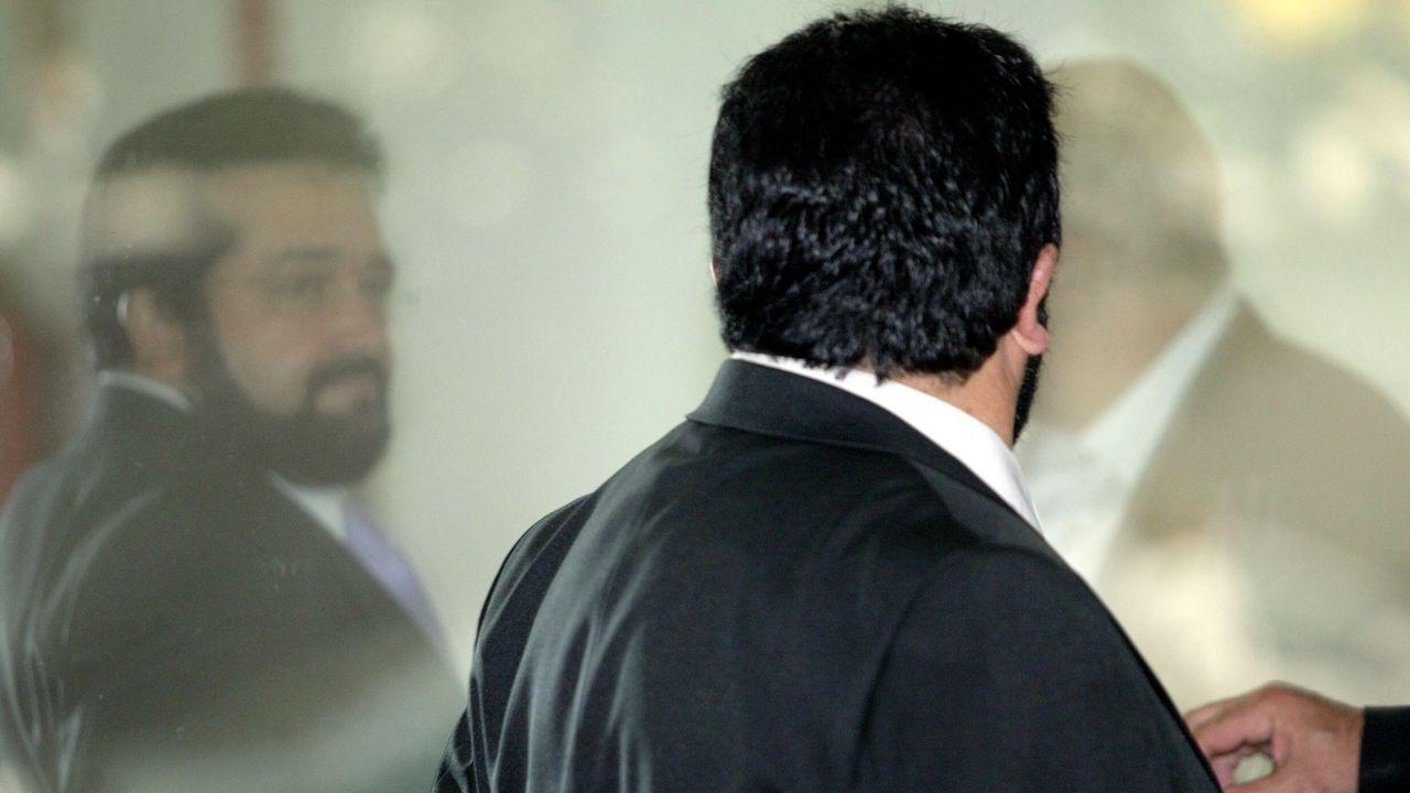 O Alemán en uno de sus múltiples juicios, como este del 2004 en la Audiencia Provincial de Lugo