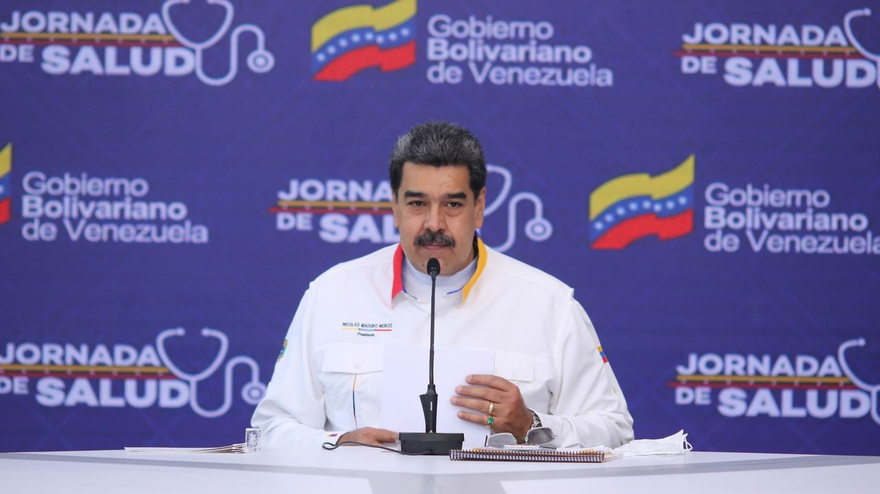 Maduro, durante una comparecencia este miércoles en Caracas