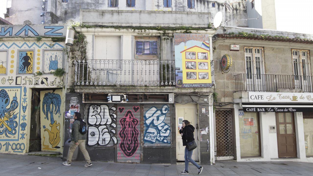 Pintadas en el Casco Vello de Vigo