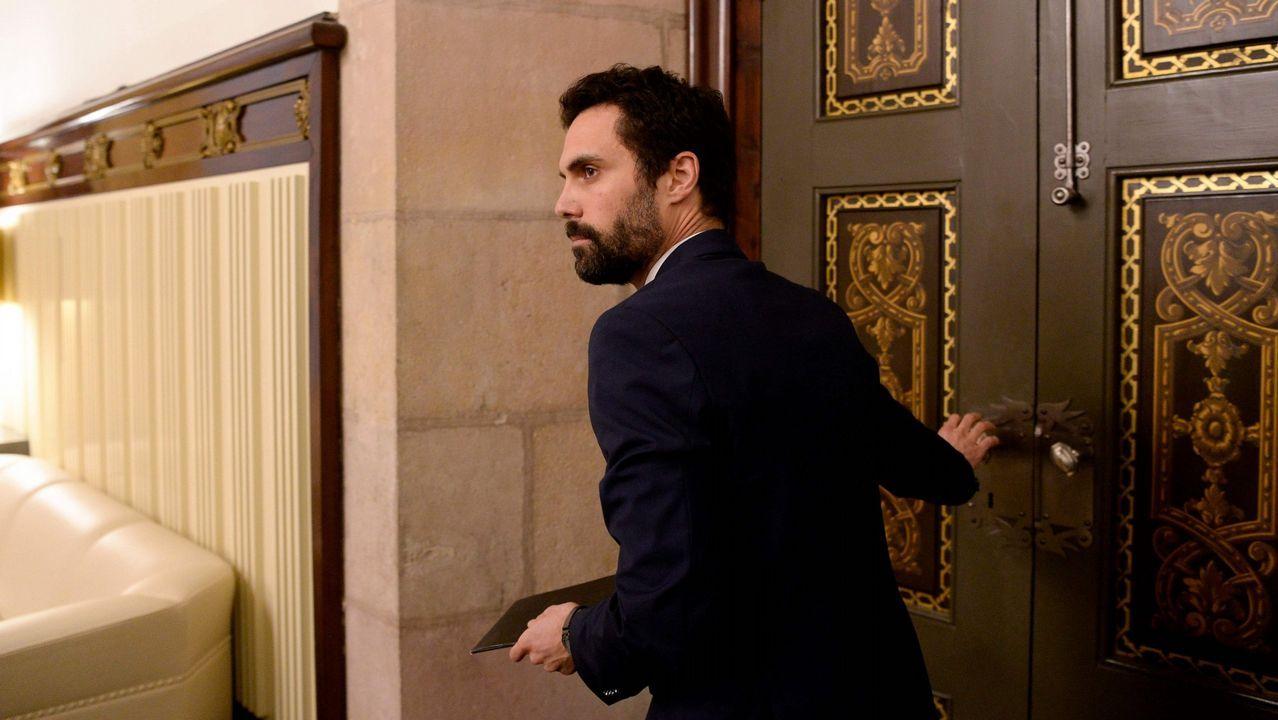 El presidente del Parlamento de Cataluña, Roger Torrent