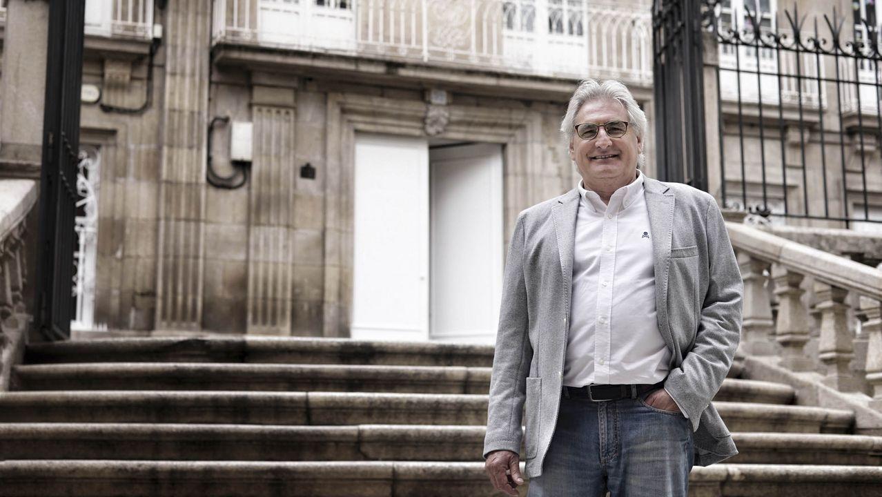 Paco López-Barxas, retratado en Ourense