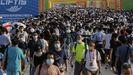 Cientos de personas este fin de semana en una feria tecnológica en Pekín