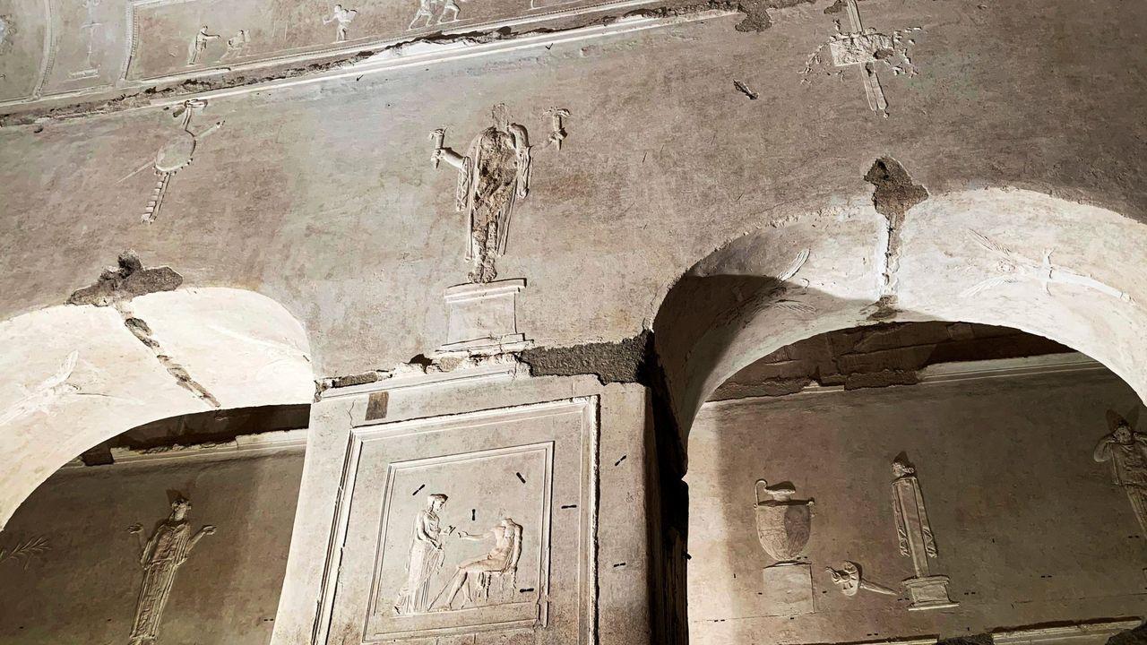 Imágenes de una excavación minuciosa.La basílica se puede contemplar el segundo y cuarto domingo de cada mes, solicitando una visita guiada