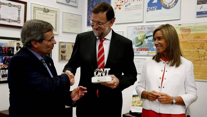 Rajoy: «Los trasplantes permiten que un andaluz viva con el corazón de un catalán».El Gobierno quiere aumentar la participación femenina en las tecnologías de la información. CÉSAR QUIAN