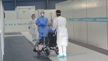 El hospital provisional H144 recibe al primer paciente