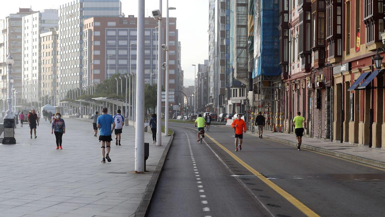 Paseo del Muro, en Gijón