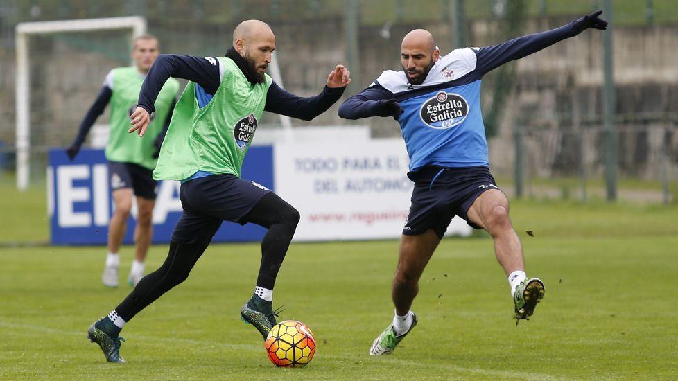 Víctor Sánchez y Juan Domínguez, en una foto de archivo
