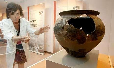 . En el castro de Viladonga, en Castro de Rei, se guardan todos los restos arqueológicos que aparecen en la provincia de Lugo. En la foto, una pieza del museo del castro.