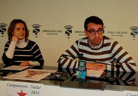 García y Varela presentaron el Campamento de Nadal lalinense.