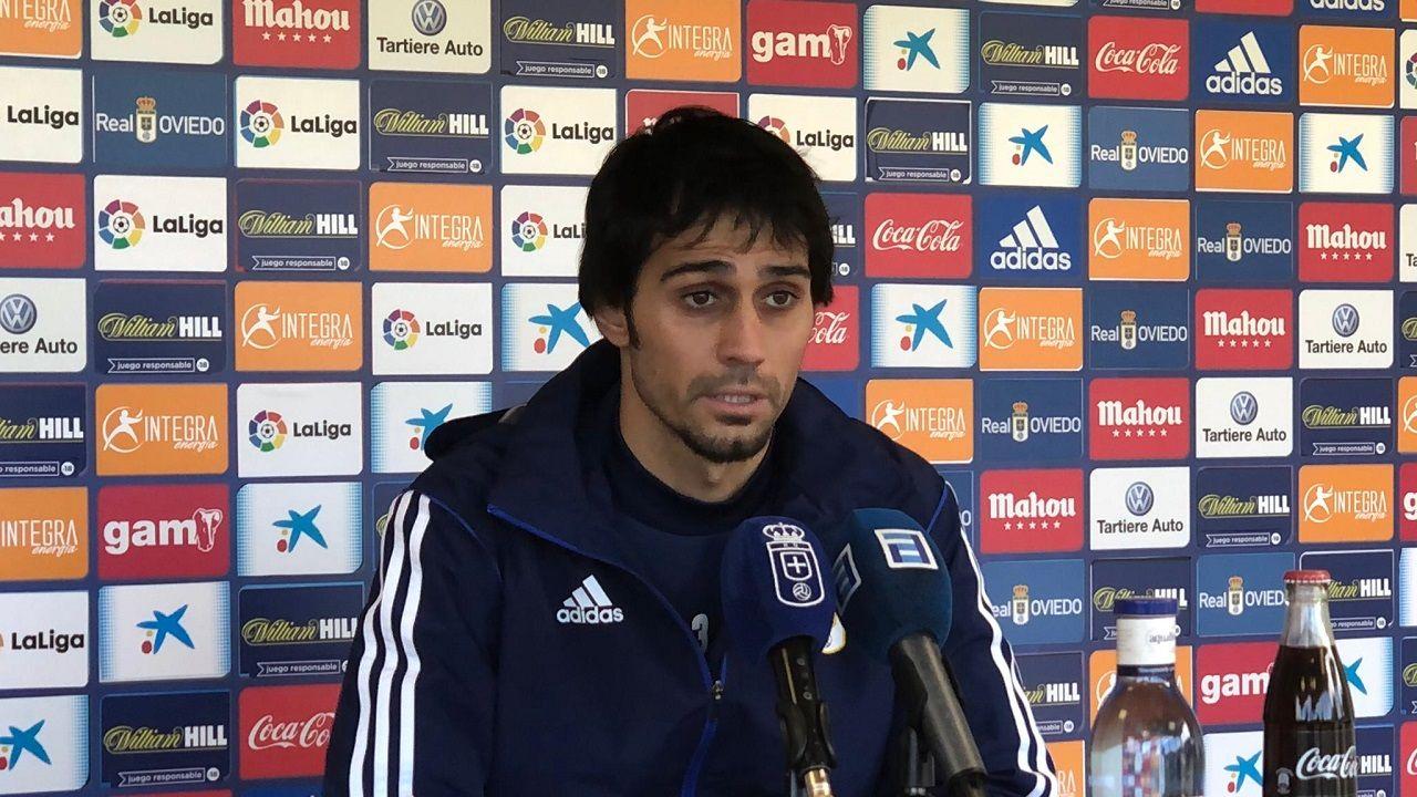 Alejandro Arribas en la sala de prensa de El Requexón