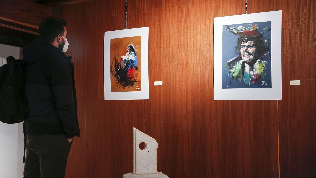 Las dos caras del cuadro del pintor Rivas Briones.«Anteface», de Teresa Argibay, como a insinuación