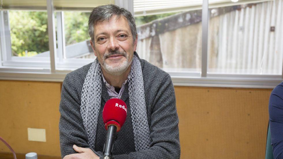 Manuel Muíño, nunha visita a Radio Voz, antes da pandemia