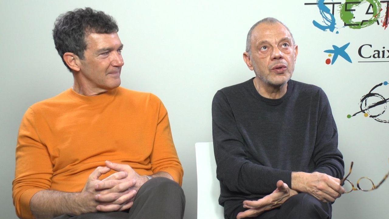 Antonio Banderas y Lluís Pasqual, en la época en que unieron sus fuerzas en el teatro fundado por el actor malagueño