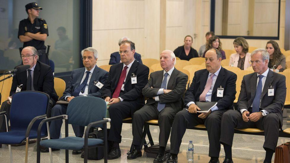 Óscar Rodríguez, Ricardo Pradas, José Luis Pego, Gregorio Gorriarán y Julio Fernández Gayoso