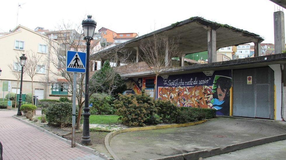 Estructura de la plaza de abastos de Cantodarea, que será derribada