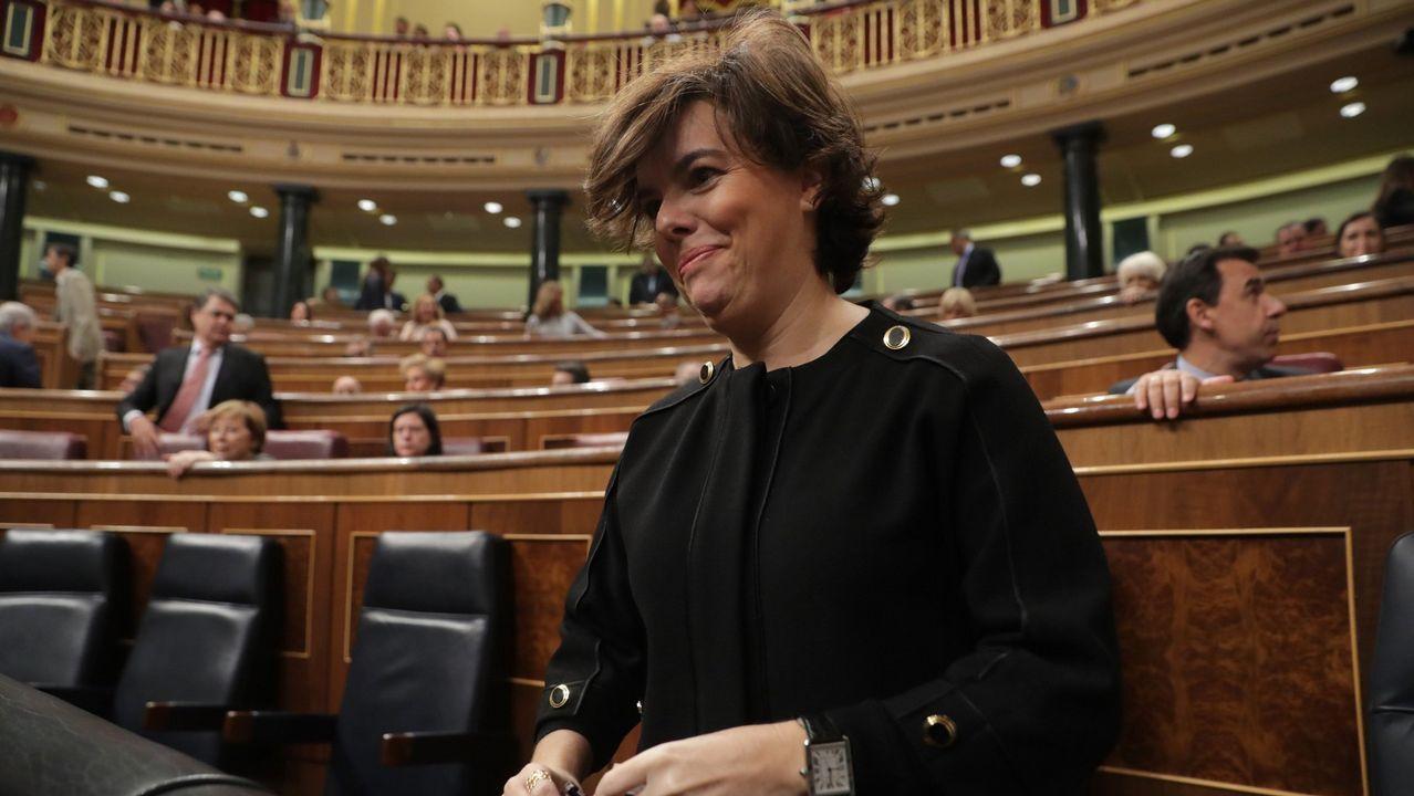 Soraya Sáenz de Santamariá. Vicepresidenta. Es la más conocida, solo un 8,9 % dice no saber quién es.