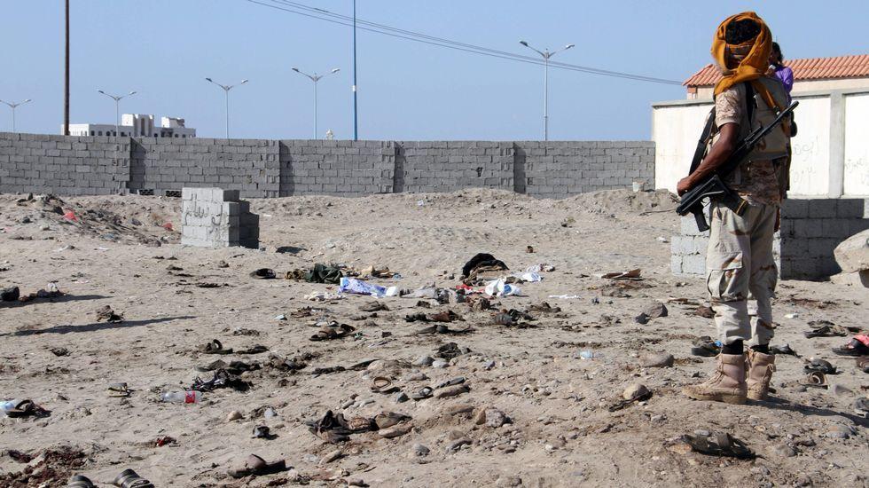 alqaidah.Restos del atentado