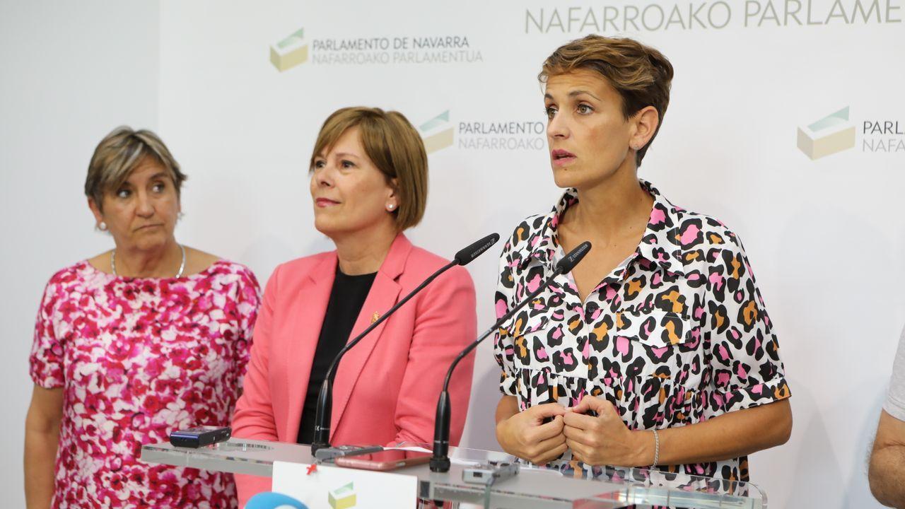 Barkos y Chivite en la presentación del acuerdo
