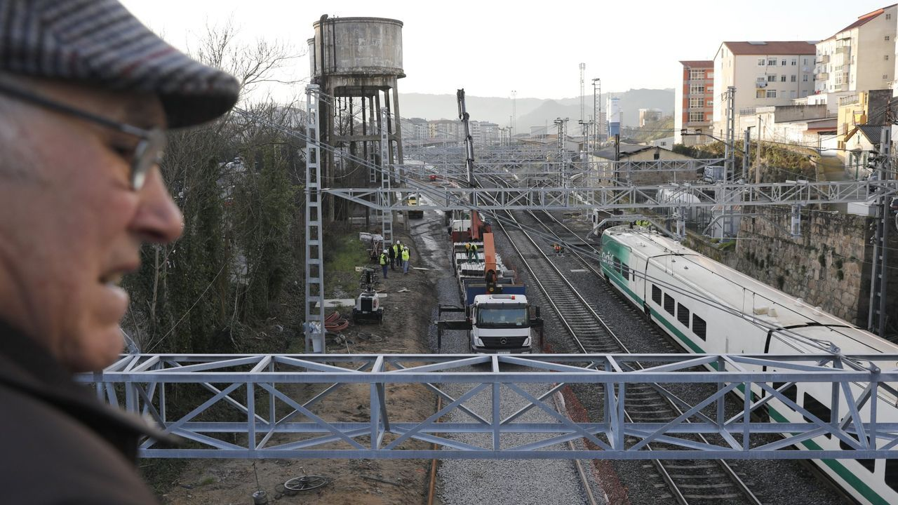 Vigo paraliza sus obras por el coronavirus.Obras del AVE en la ciudad de Ourense