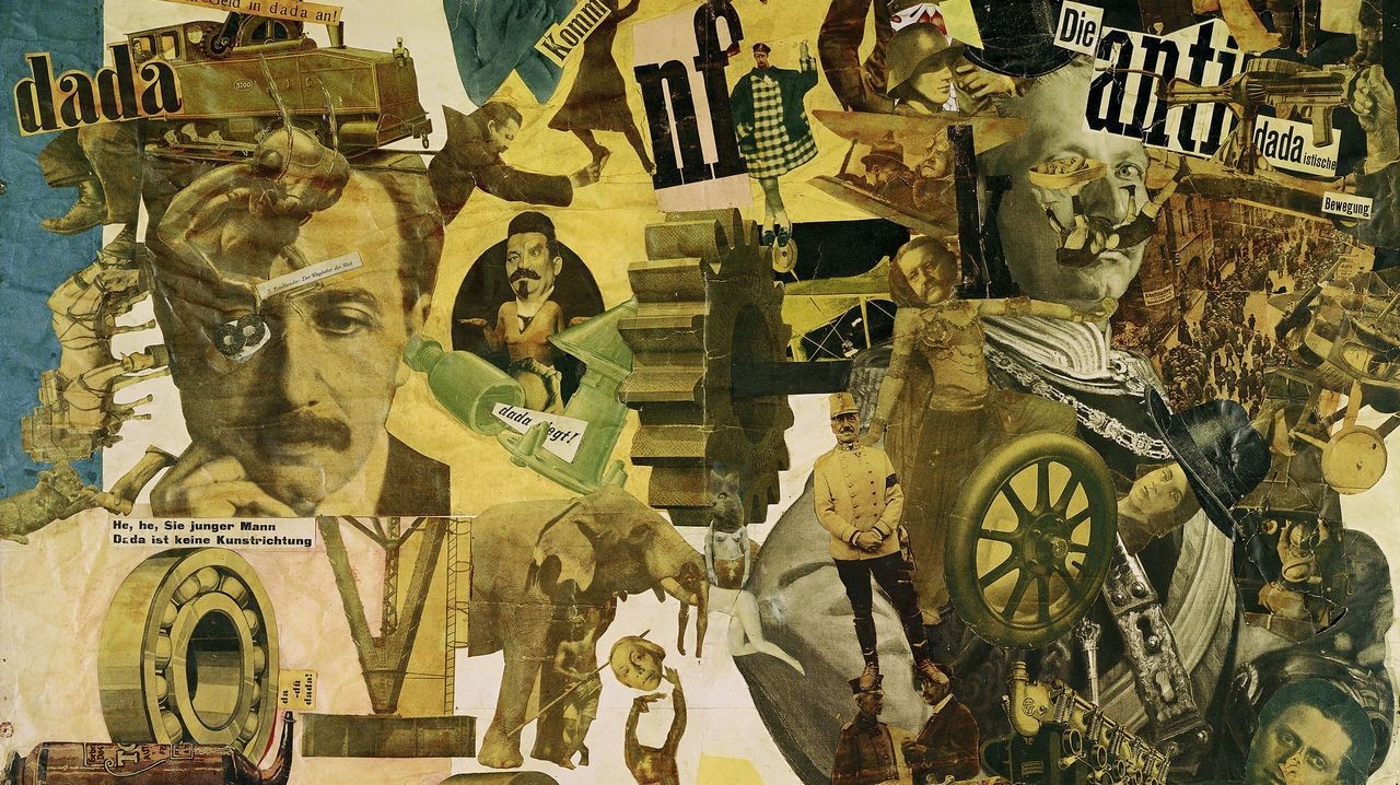 corunaholo.Detalle del collage «Corte con el cuchillo de cocina dadá» (1919), obra de Hannah Höch, que ilustra la edición de Turner del libro de Weitz
