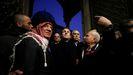 Macron, durante su visita a la mezquita de Al Aqsa