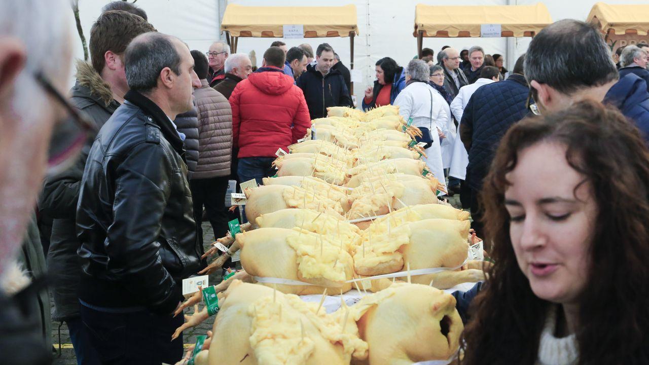 Feira do Capón, el otro gordo de Vilalba.Cena de Nochebuena