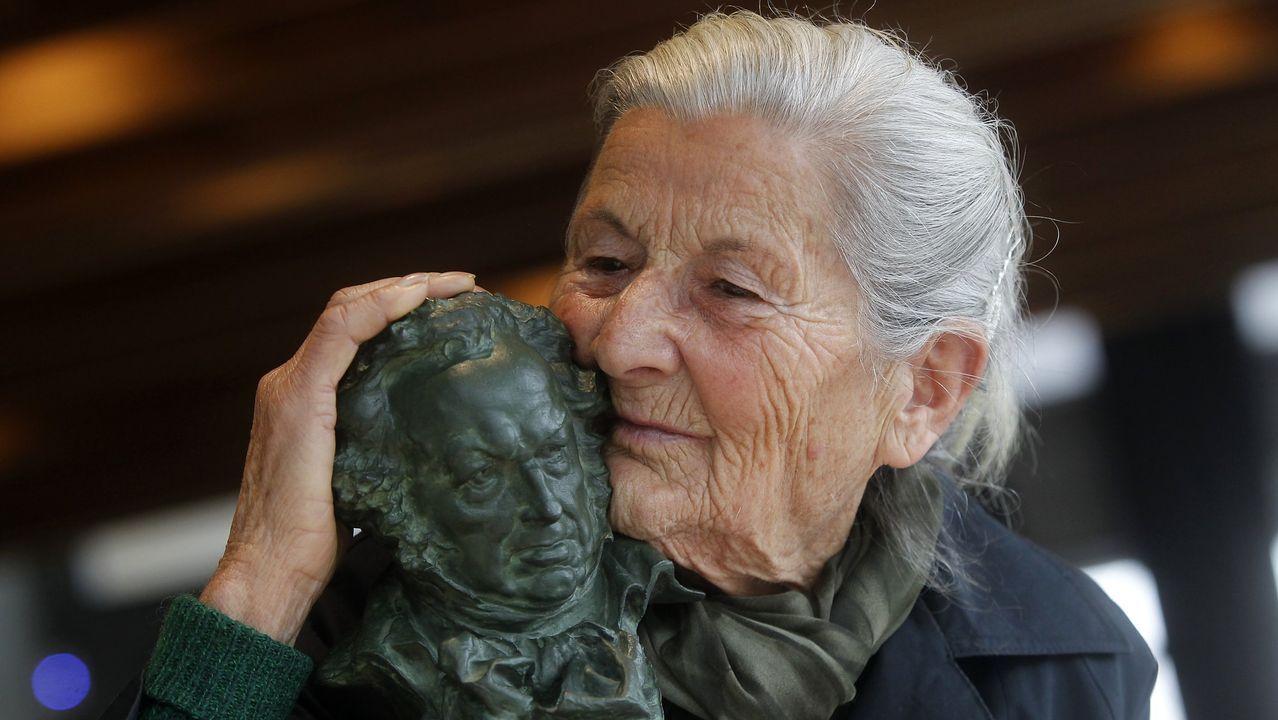 Benedicta, protagonista da película «O que arde», pola que gañou o Goya á actriz revelación