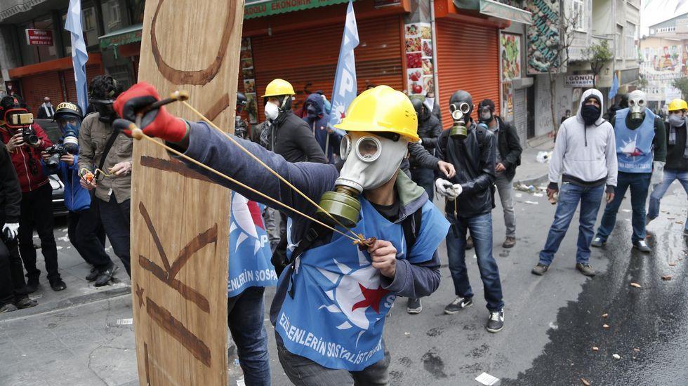 Protesta en Estambul por el 1 de Mayo