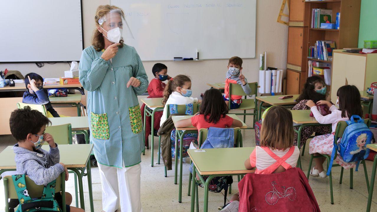Imagen de una de las aulas del colegio Rosalía de Castro